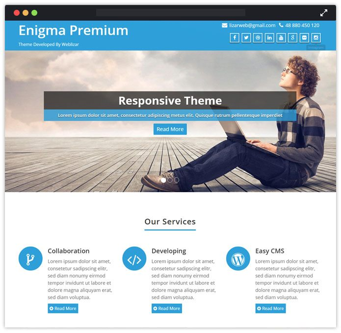 Enigma Speaker WordPress Themes InkThemes