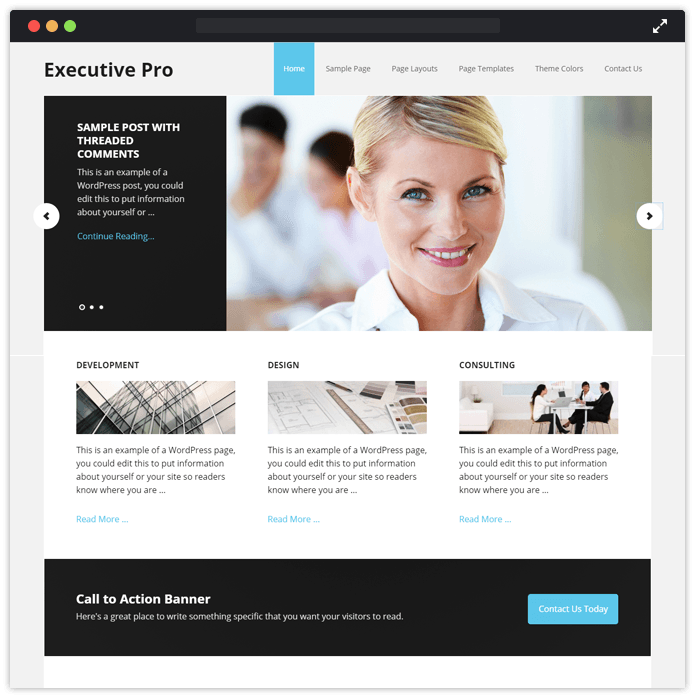 10 best accountant wordpress themes 2018 free bonus executivepro wordpress theme accmission Images