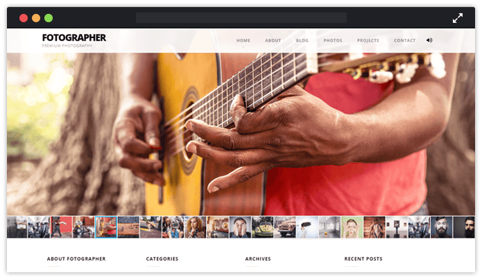 Fhotographer WordPress Theme