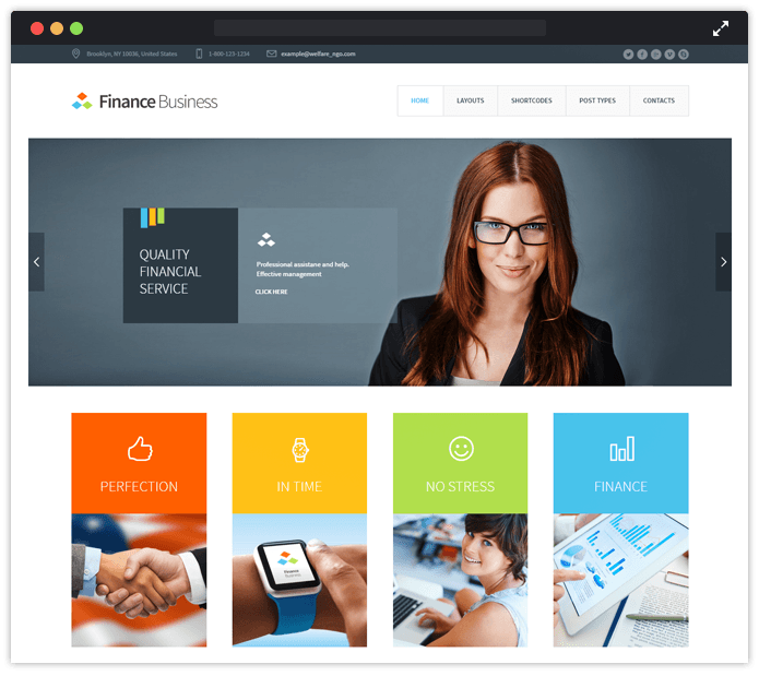 10 best accountant wordpress themes 2018 free bonus finance business wordpress theme friedricerecipe Image collections