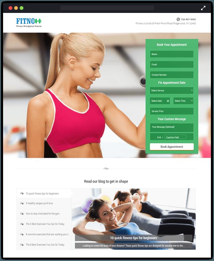 Fitno WordPress Theme