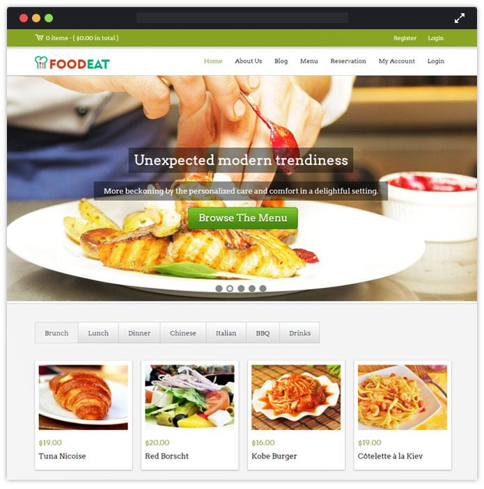 FoodEat WordPress Theme