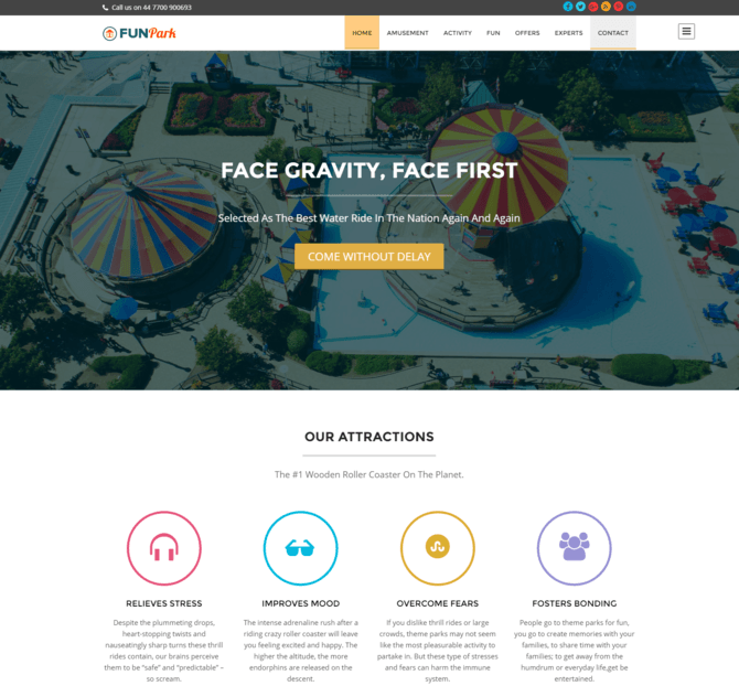 funpark - Child Care WordPress Themes