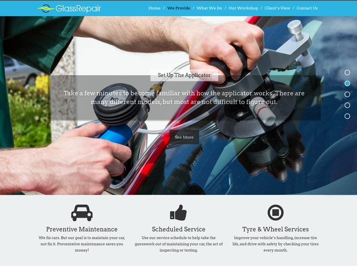 GlassRepair WP Theme