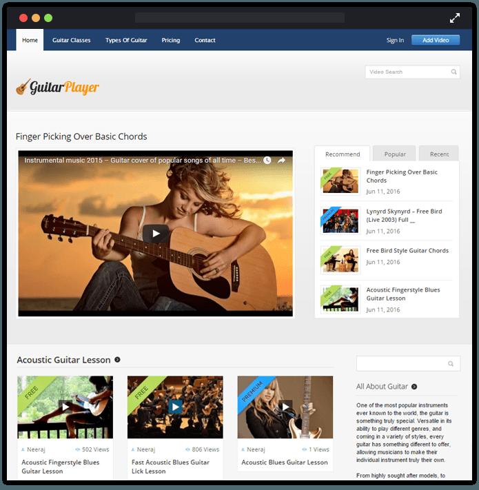 GuitarPlayer wp theme