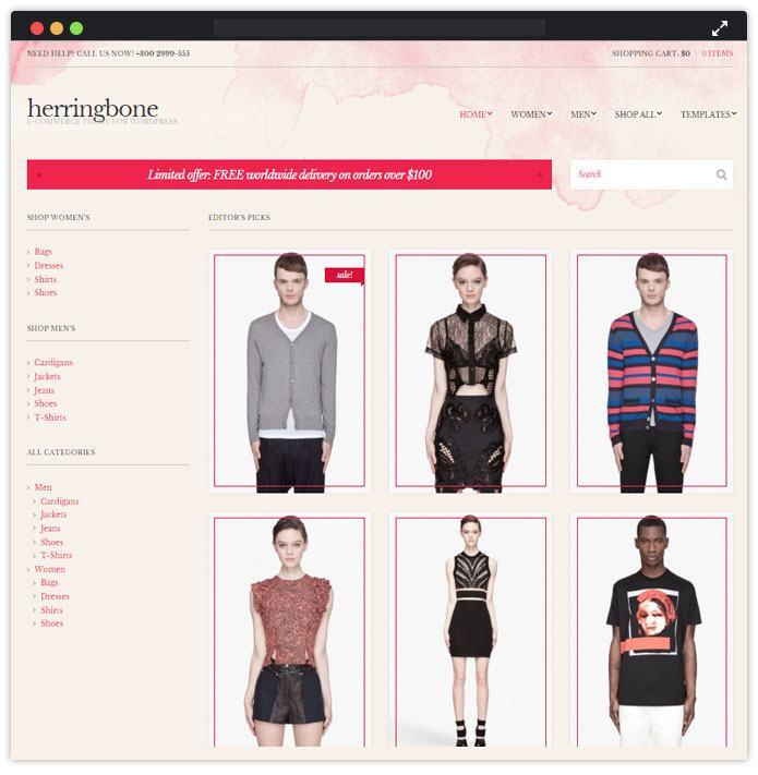Herringbone Best Fashion WordPress Themes