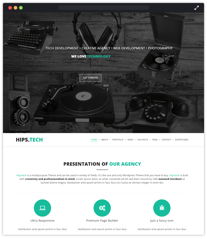 Hipstech Computer & IT Industry WordPress Themes