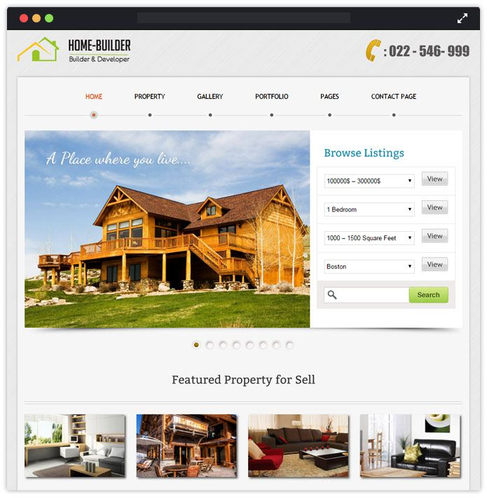Home Builder WordPress Theme