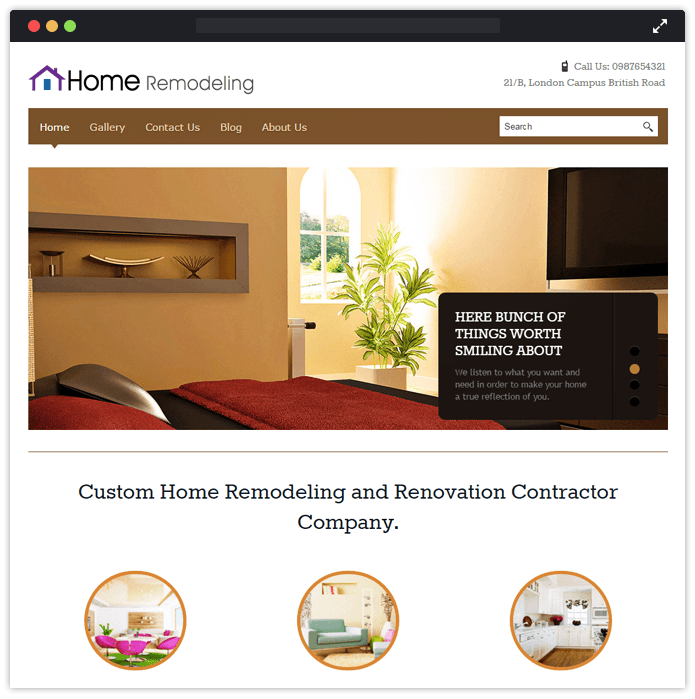 Home Remodeling WordPress Theme