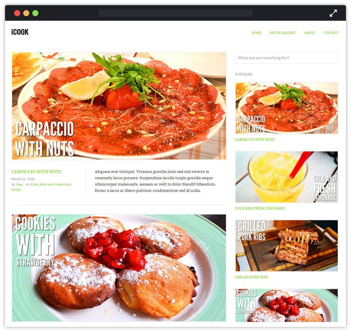 ICook WordPress Theme
