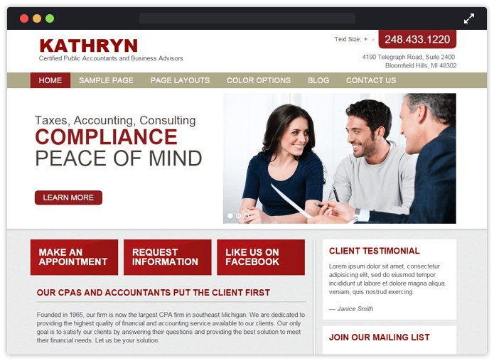Katheryn WordPress Theme