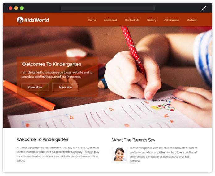KidsWorld Best Preschool Child Care & kindergarten WordPres Theme