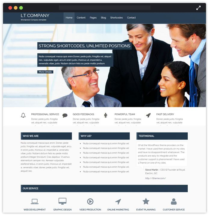 Latest best 10 corporate premium wordpress themes 2018 inkthemes lt company corporate wordpress themes inkthemes maxwellsz