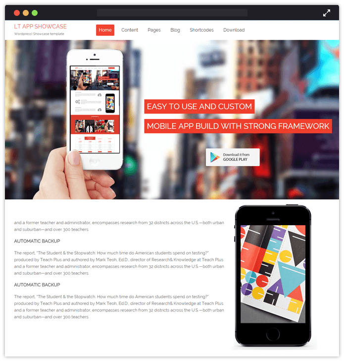 LT app ShowCase-wordpress-bootstrap-InkThemes