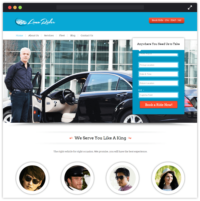 LimoRider Best Car Automobile WordPress Theme