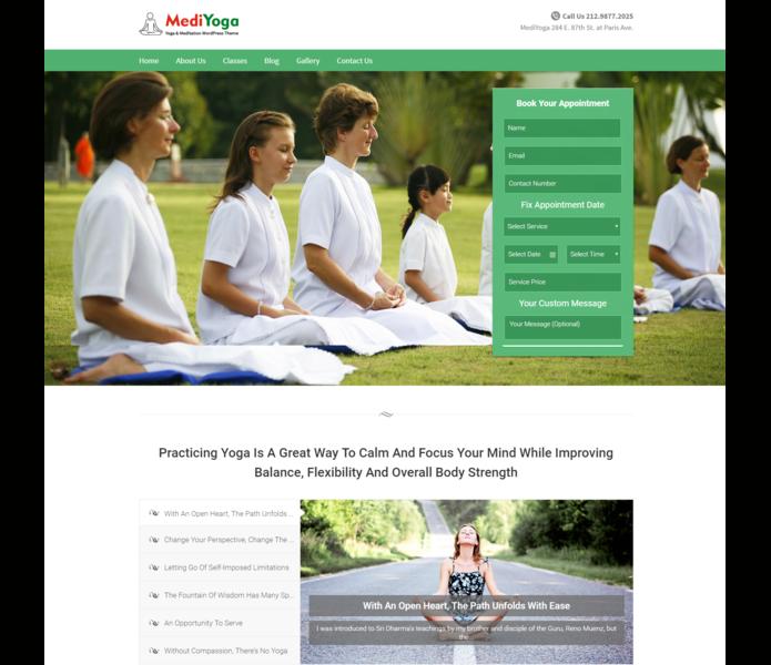 Medi yog wp theme