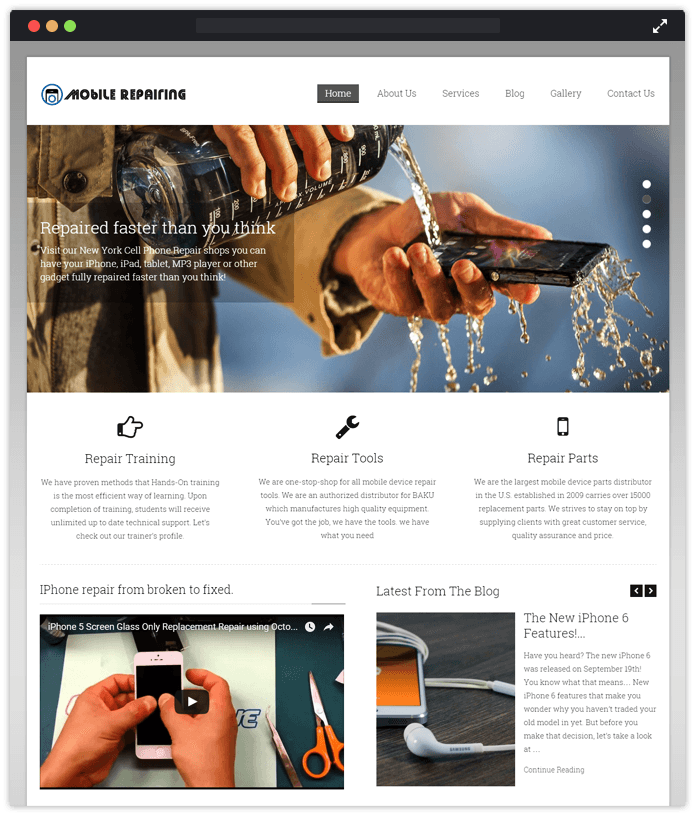 Mobile Repairing Computer & IT Industry WordPress Themes
