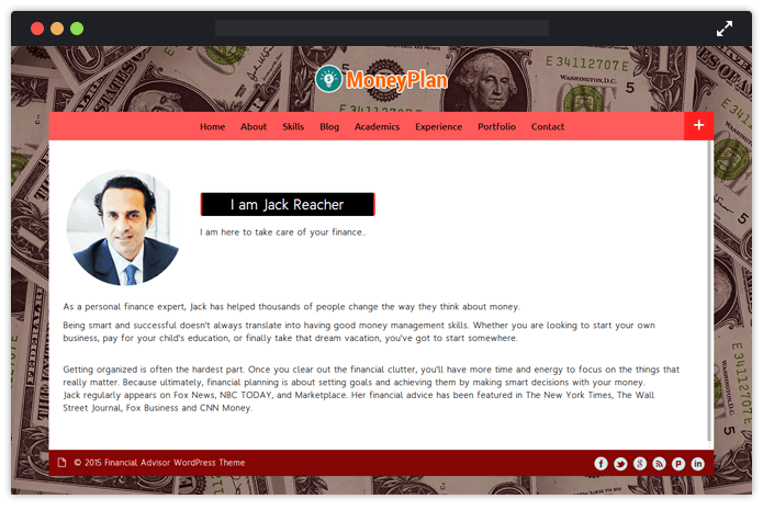 Money Plan WordPress Theme
