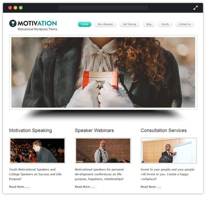 Motivation Speaker WordPress Themes InkThemes