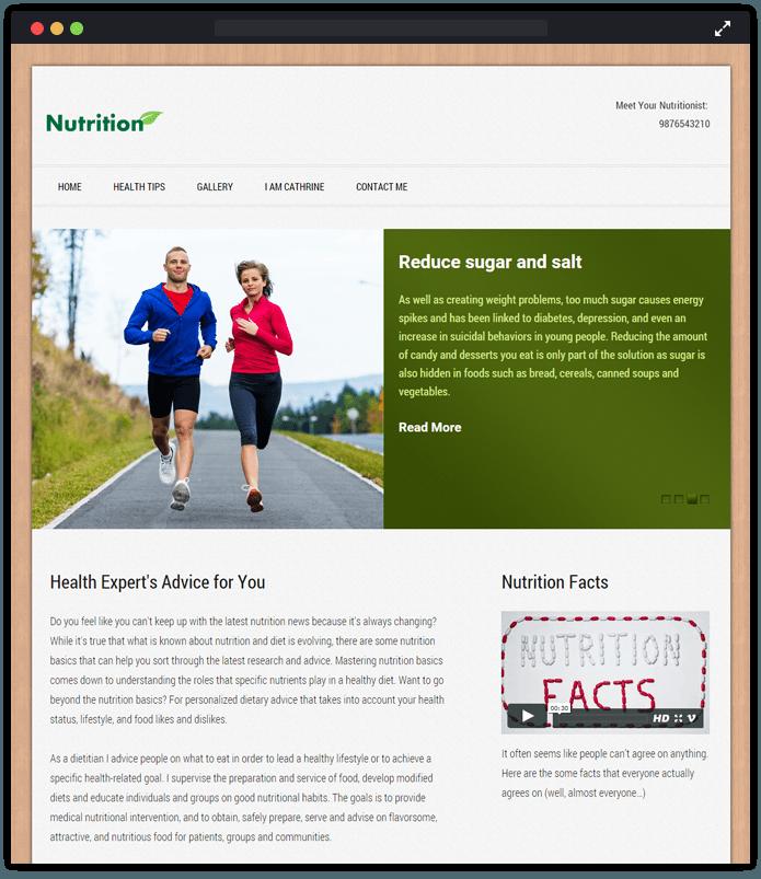 Nutrition WordPress Theme
