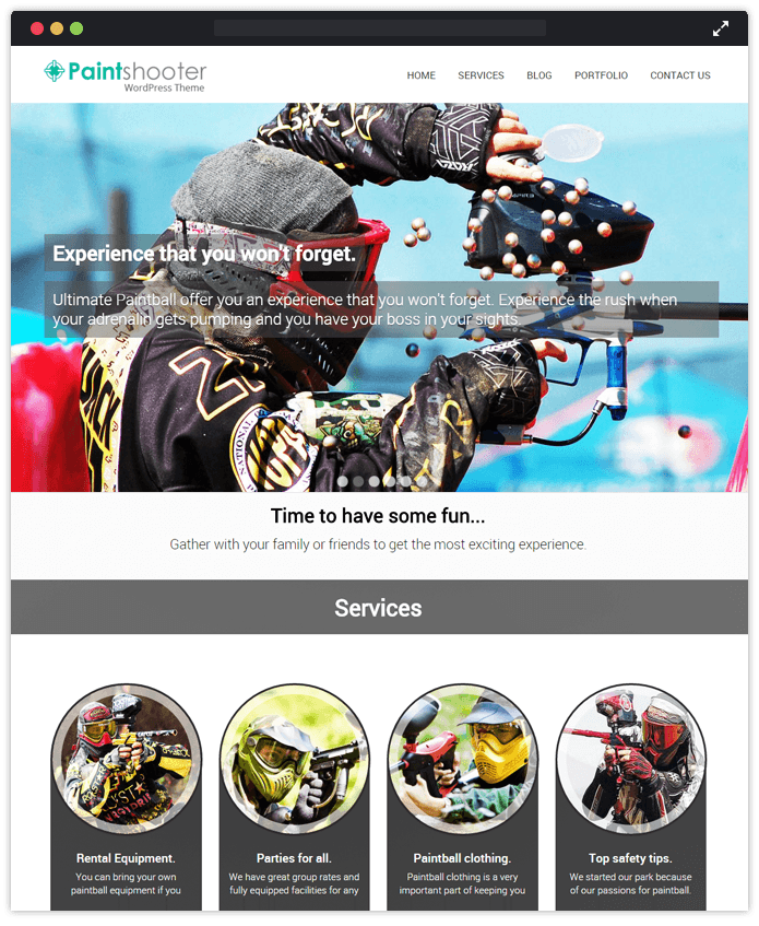 Paint Shooter Sports WordPress Theme
