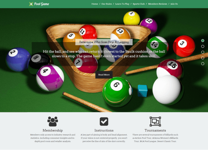 PoolGameWordPress Theme