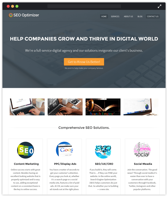 SEO Optimizer Computer & IT Industry WordPress Themes