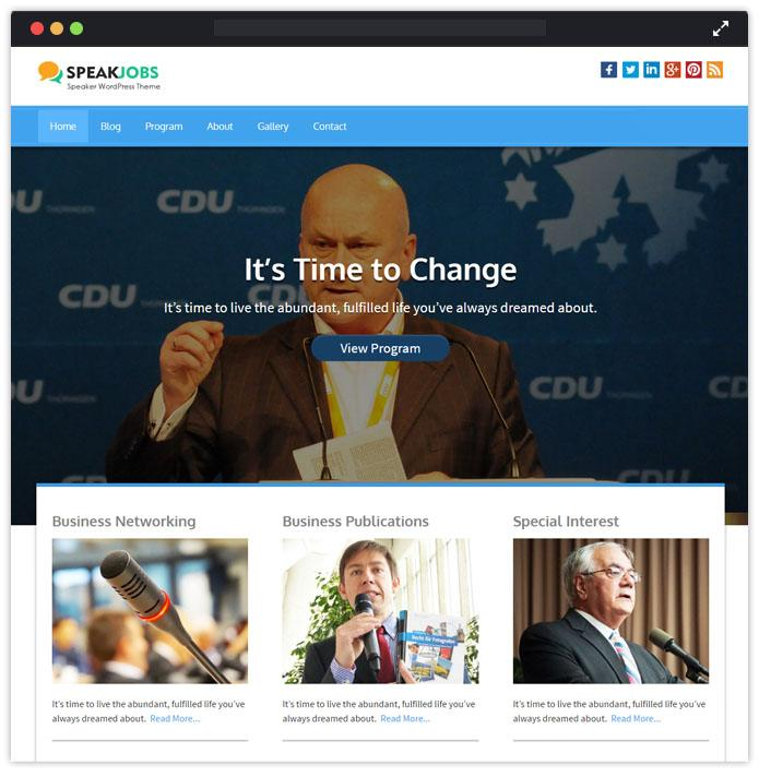SpeakJobs Speaker WordPress Themes InkThemes
