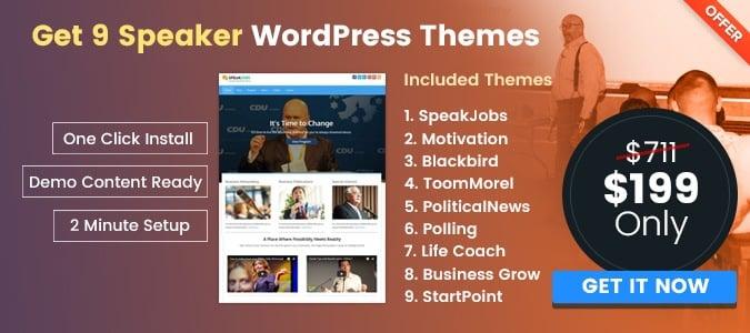 speaker wordpress themes
