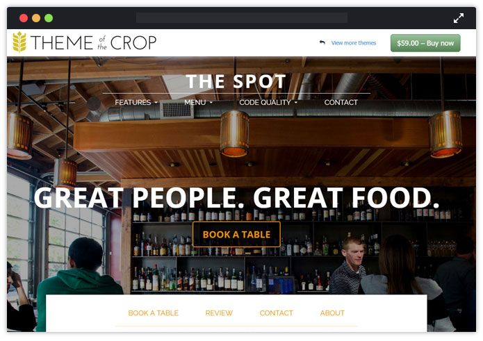 Spot Top Bar Pub Tavern WordPress Themes InkThemes