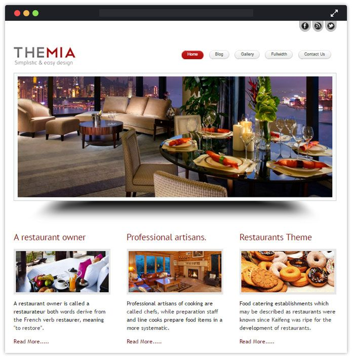 Themia Top Bar Pub Tavern WordPress Themes InkThemes