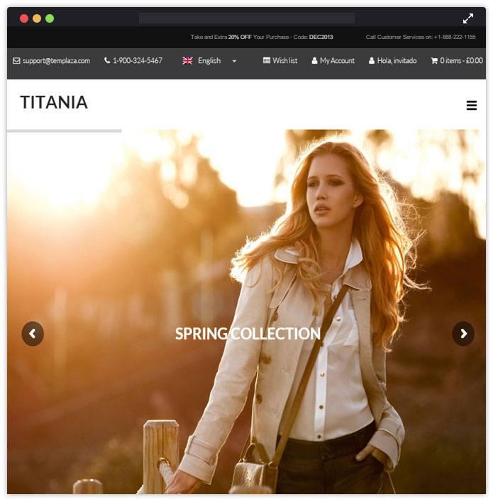 Titania Best Fashion WordPress Themes