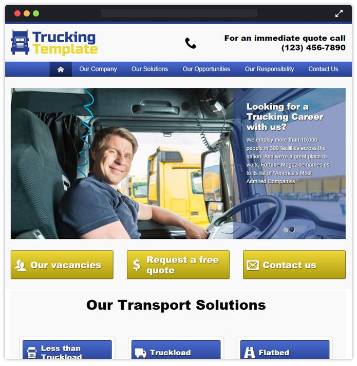 Trucking - Transportation & Logistics WordPress Theme