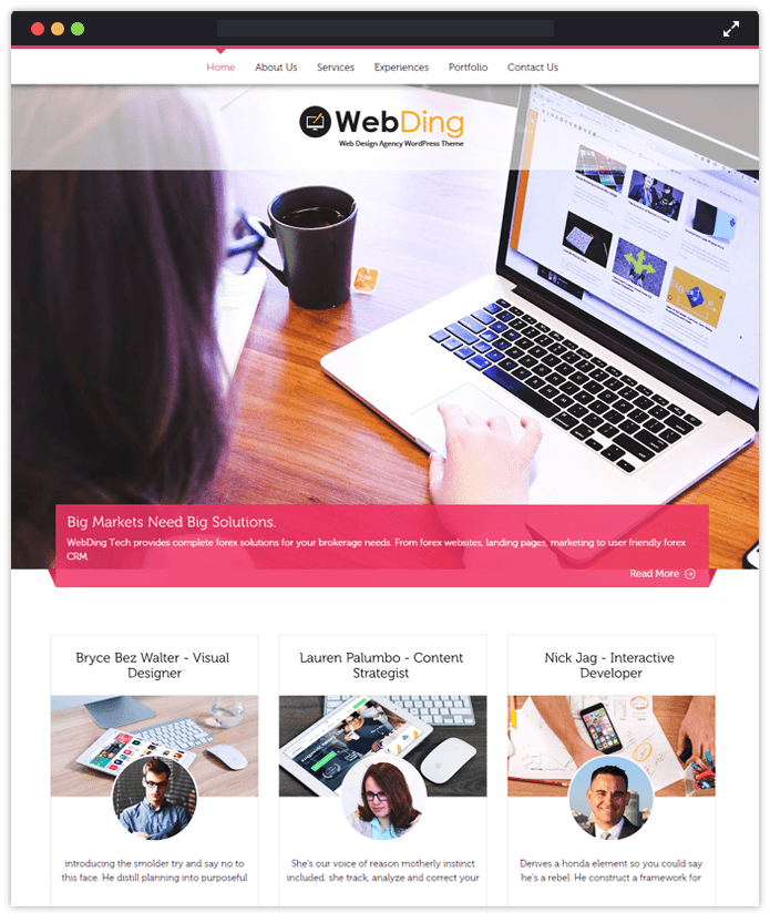 Web Ding Computer & IT Industry WordPress Themes