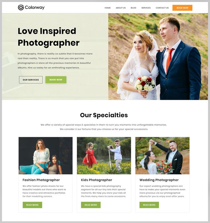 Colorway - Free Elemetor WordPress Theme