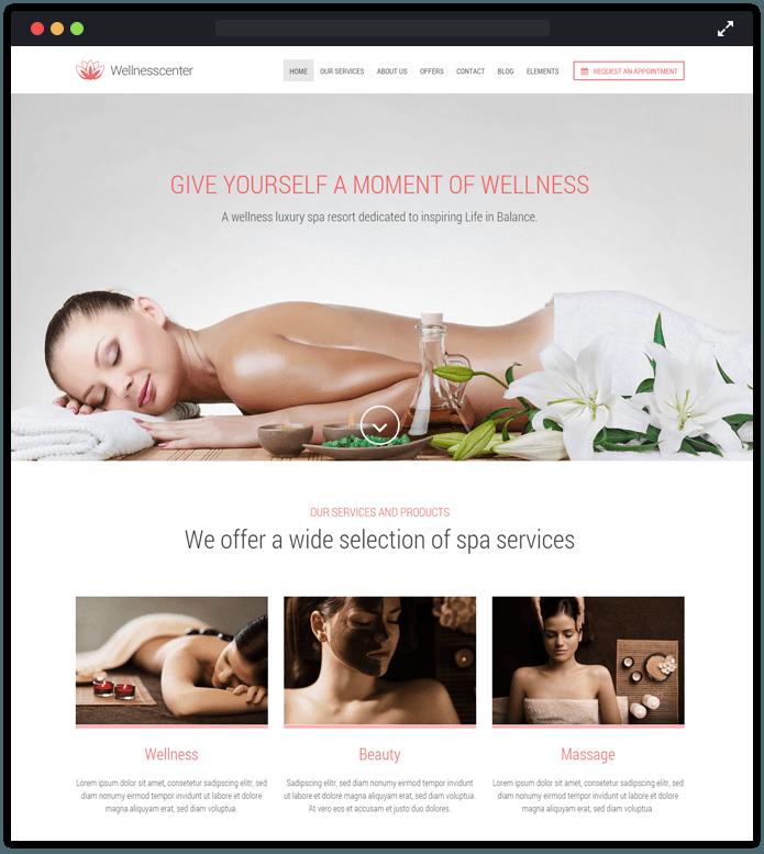 Wellnesscenter WordPress Theme