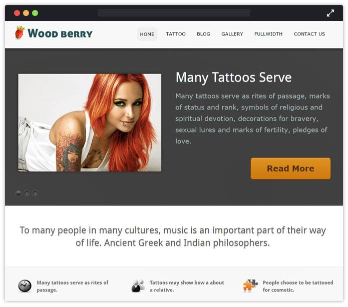 WoodBerry WordPress Theme