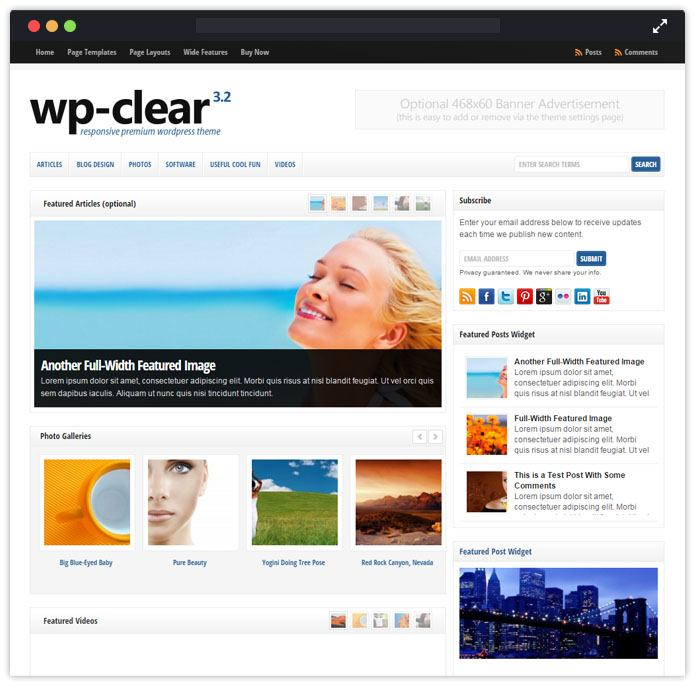 WpClear WordPress Theme