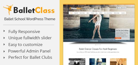 Ballet Dance Club WordPress Theme