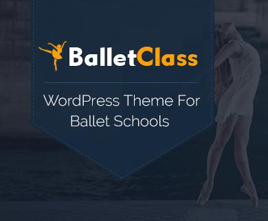 BalletClass - Ballet Dance Club WordPress Theme