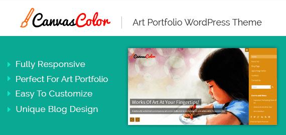 CanvasColor – Art Portfolio WordPress Theme