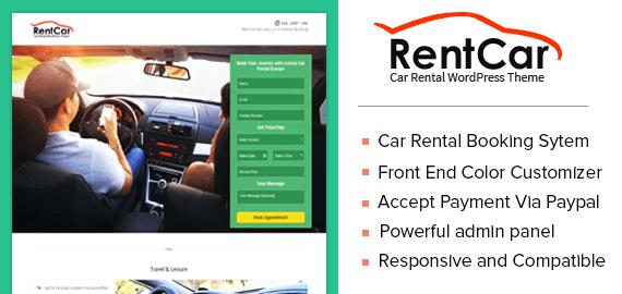 RentCar – Car Rental WordPress Theme