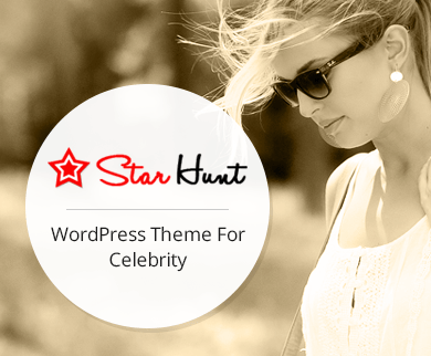 Star Hunt - Celebrity WordPress Theme