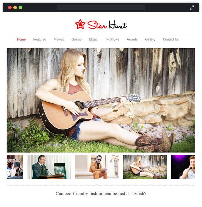 Celebrity WordPress Theme