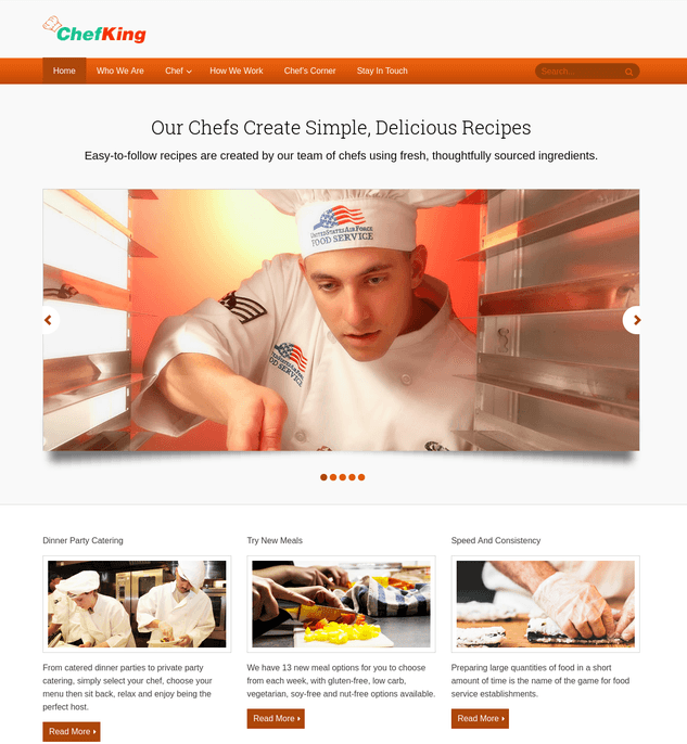 chef king wp theme