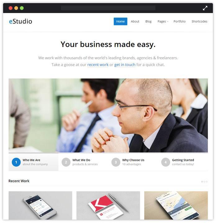 eStudio Corporate WordPress Themes InkThemes
