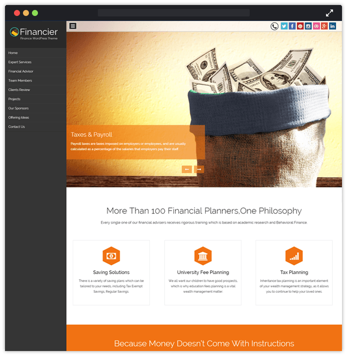 financier wp theme