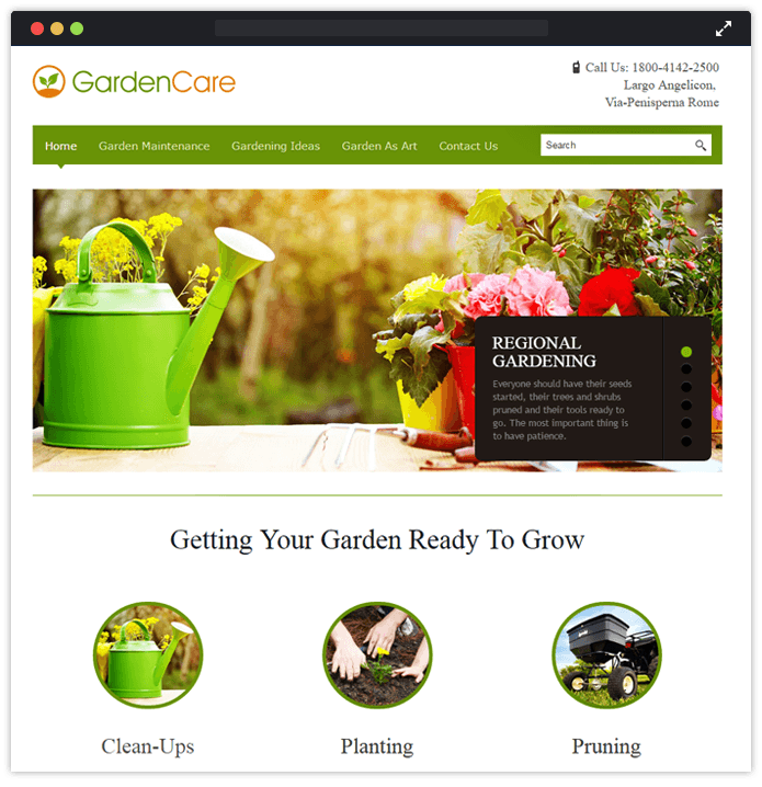 gardencare wp theme