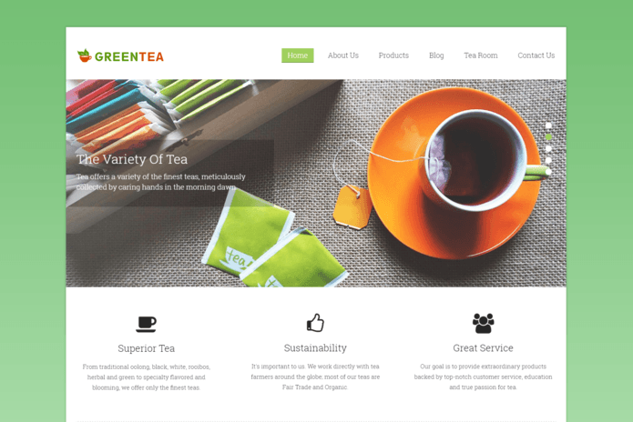 green tea wp theme