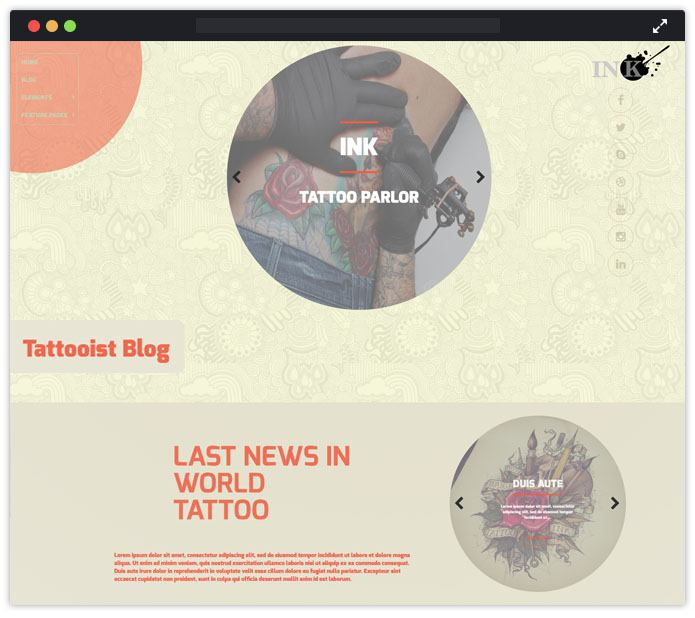 Ink Tatto WordPress Theme